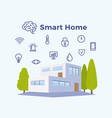 smart home abstract flat vector image