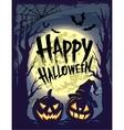 Happy Halloween with symbols vector image