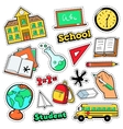 Comic Style Badges Patches Stickers School vector image