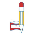 Sharpener with pencil vector image
