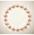 Circle of pearls vector image