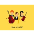 Live music vector image