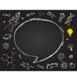education science doodles on chalkboard vector image