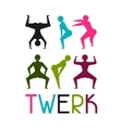 Twerk and booty dance background for dancing vector image vector image
