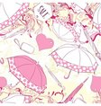 Seamless pattern with umbrellas and fashion vector image