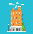 Flat design european colorful apartment vector image