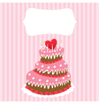 wedding cake valentines day vector image vector image