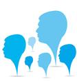 businessmen head background vector image