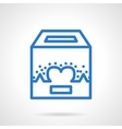 Charity fundraiser blue line icon vector image