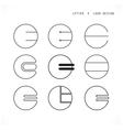Creative letter E icon abstract logo design vector image