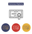 diploma certificate award icon vector image