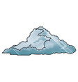 drawing cloud climate weather cold vector image