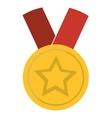 medal star champion winner vector image