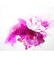 one blooming orchid vector image