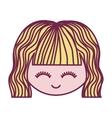 cute blonde girl vector image
