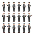 collection of a young cartoon style businessman vector image vector image
