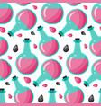 bottle of poison seamless pattern vector image