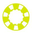 yellow casino chip vector image