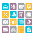 Silhouette Airport and transportation icon vector image vector image
