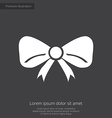 festive bow premium icon white on dark background vector image