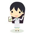 check clipboard doctor woman vector image