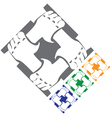 hands symbol vector image vector image