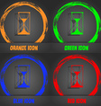 Hourglass sign icon Sand timer symbol Fashionable vector image