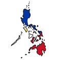 Map in colors of Philippines vector image