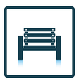 Tennis player bench icon vector image vector image