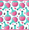 bottle of poison seamless pattern vector image