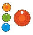 circle labels vector image
