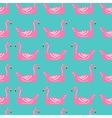 flamingo ring pattern vector image