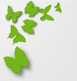 Paper butterflies vector image