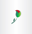 unfolding rose symbol design vector image