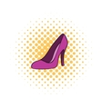 Women shoes icon comics style vector image