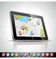 technology with shiny pda device and vector image vector image