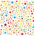 seamless pattern with colorful stars vector image