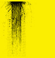 grunge tire tracks banner yellow vector image