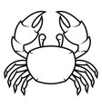 black crab vector image