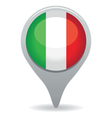 italian flag pointer vector image vector image