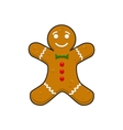 Christmas decorative gingerbread cookieman vector image