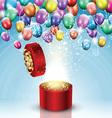 Balloon celebration background vector image