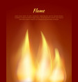 flames from candles with text vector image