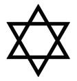 Judaism Star vector image