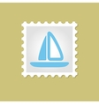 Sailboat stamp vector image