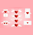 valentine s day elements icon sets vector image