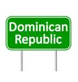Dominican Republic road sign vector image