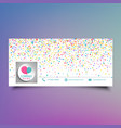 social media timeline cover design with colourful vector image vector image