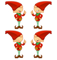 Red Elf Giving A Thumbs Up vector image