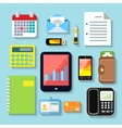 Business items and mobile devices vector image vector image